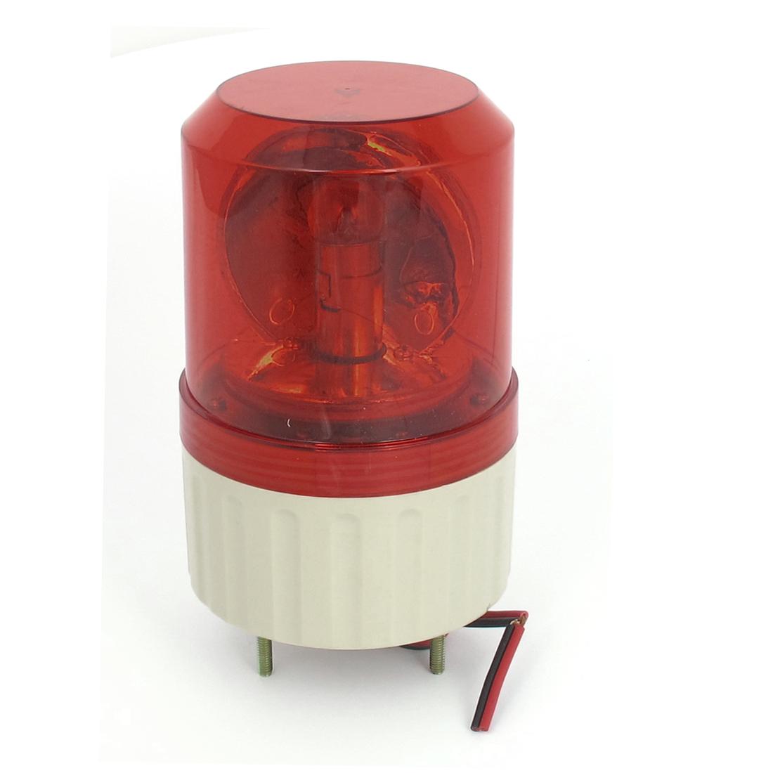 AC 220V Industrial Alarm System Rotating Warning Light Lamp Red