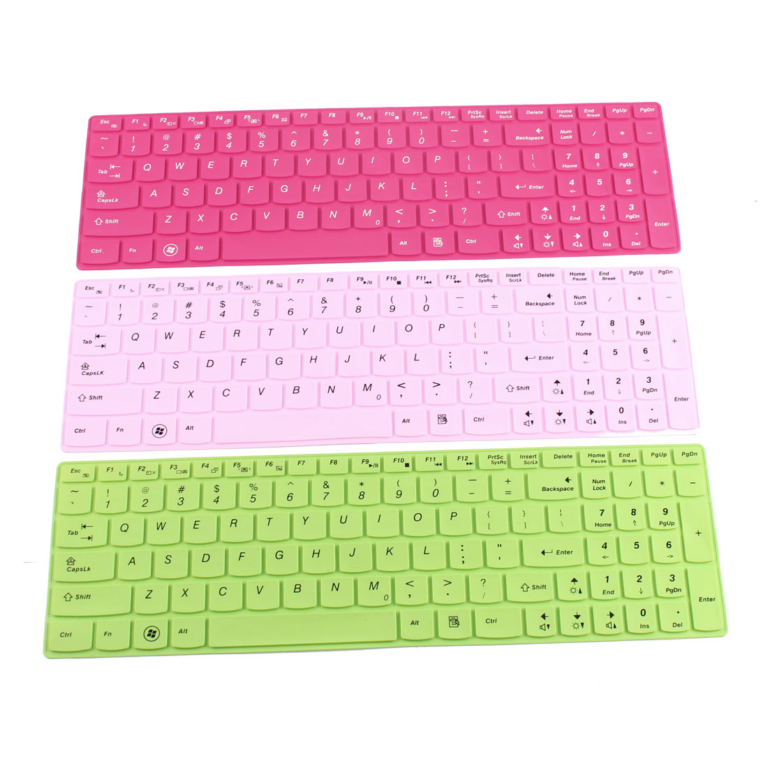 Laptop Silicone Protective Shell Keyboard Skin Cover Assorted Color for Lenovo 023 15 Pcs