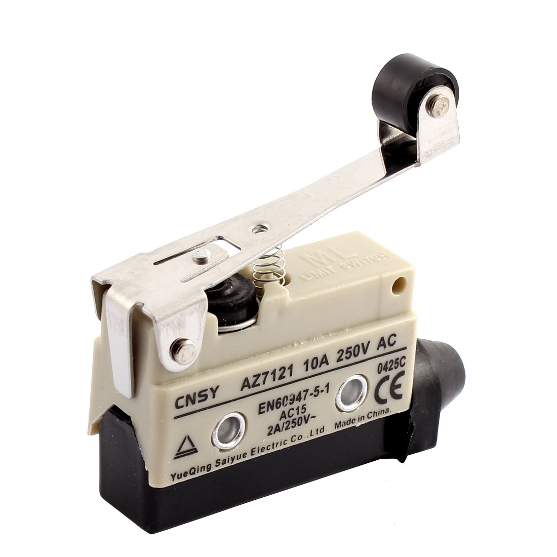AZ7121 Long Roller Lever Arm Momentary Micro Limit Switch AC 250V 10A