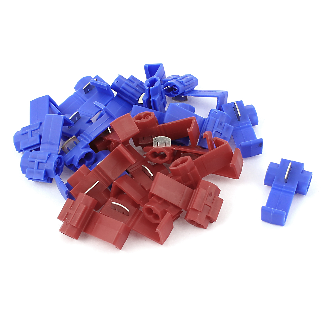 Car Insulated Wire Quick Disconnect Connector Audio Terminal 26pcs Blue Red