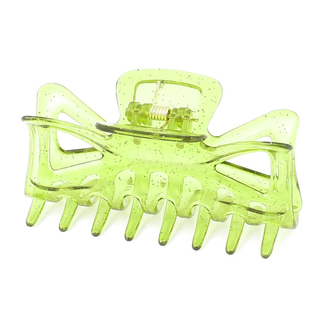 Plastic Hair Claw Clip Butterfly Jaw Clamp Grip Clear Oliver Green