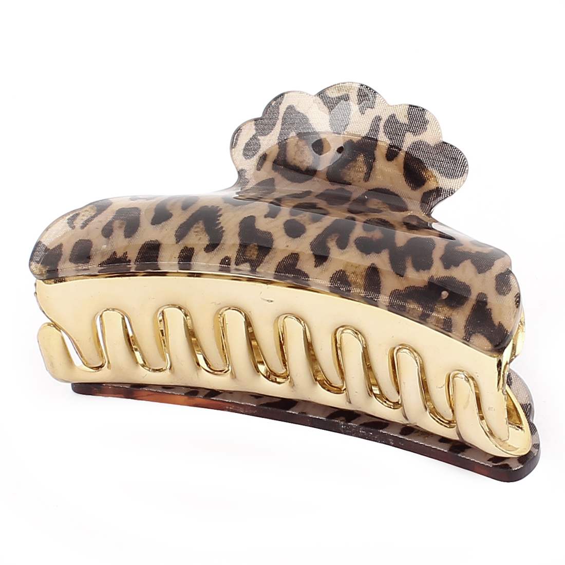 Plastic Leopard Prints Bow Hair Jaw Claw Clip Clamp Clutcher Black Brown