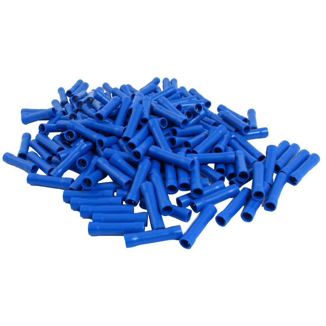 184pcs Electrical Wire Crimp Insulated Straight Butt Connector Terminals