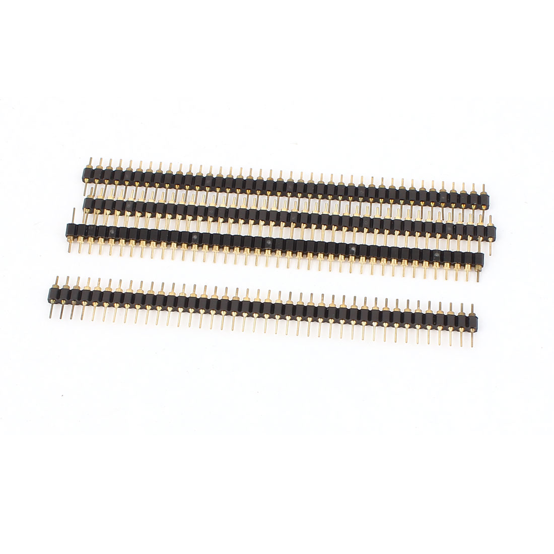 4pcs PBC Mount 40 Pin 2.5mm Pitch Breakable Straight Single Row Male Header Connector Strip