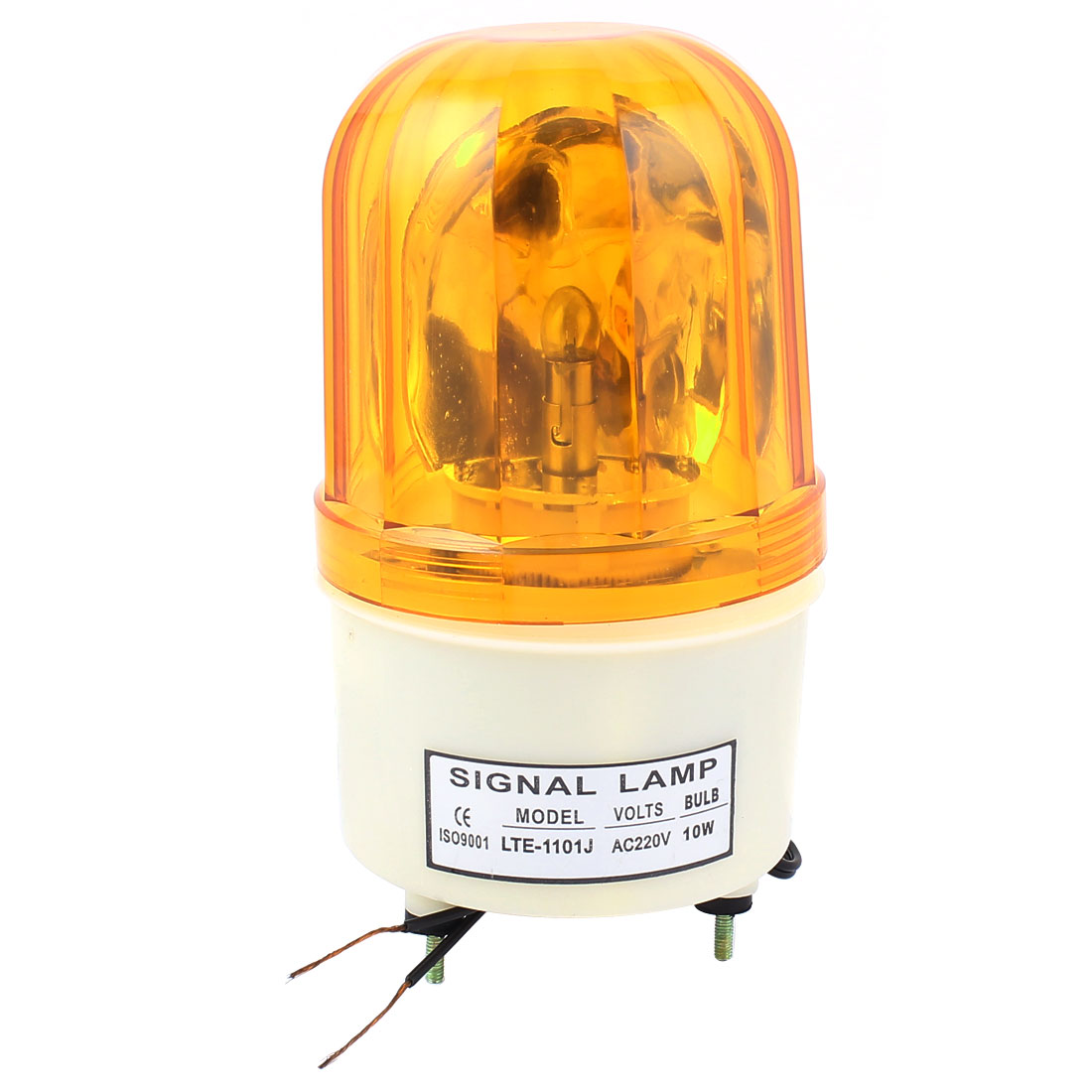 LTE-1101 DC 24V 10W Plastic Housing Yellow LED Industrial Safety Rotary Lamp Strobe Signal Warning Light