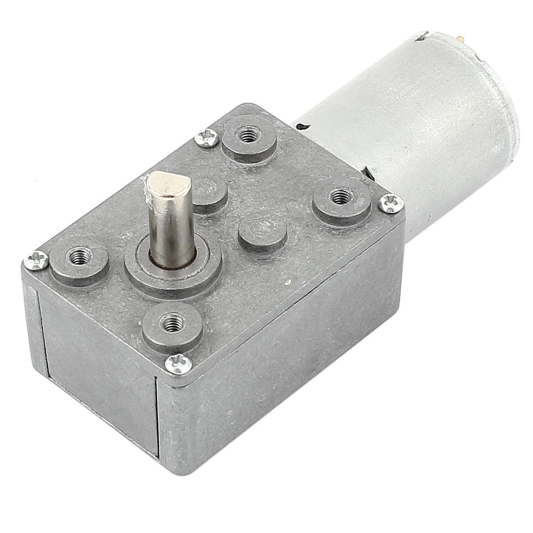 DC 12V 15RPM 6mm Shaft High Torque Turbine Worm Gear Box Reduction Motor