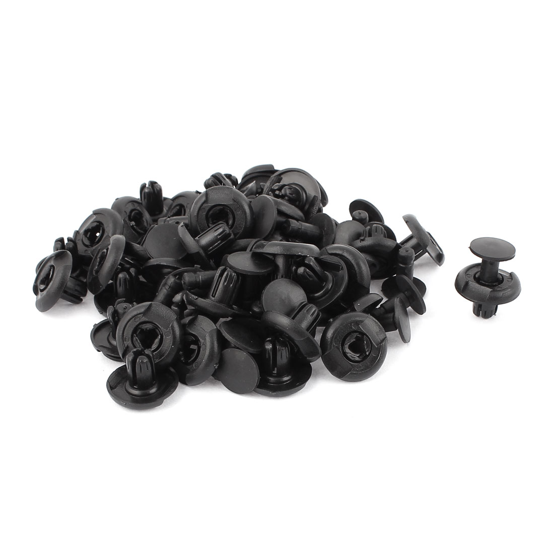 40Pcs 9mm Hole Plastic Rivet Push Type Fit Panel Trim Clips for Car Door Cards