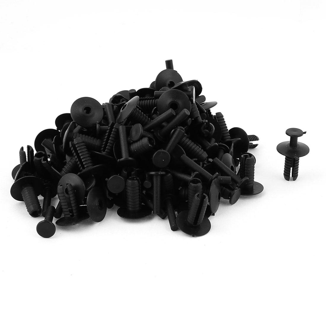 80Pcs Black Plastic Rivet Push Fit Panel Trim Fastener Clips for Car Motor Fairing