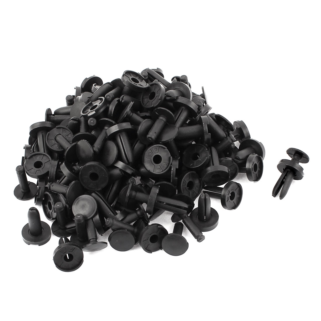 80Pcs Auto Car Door Panel Trim Fastener Side Moulding Plastic Clips Black