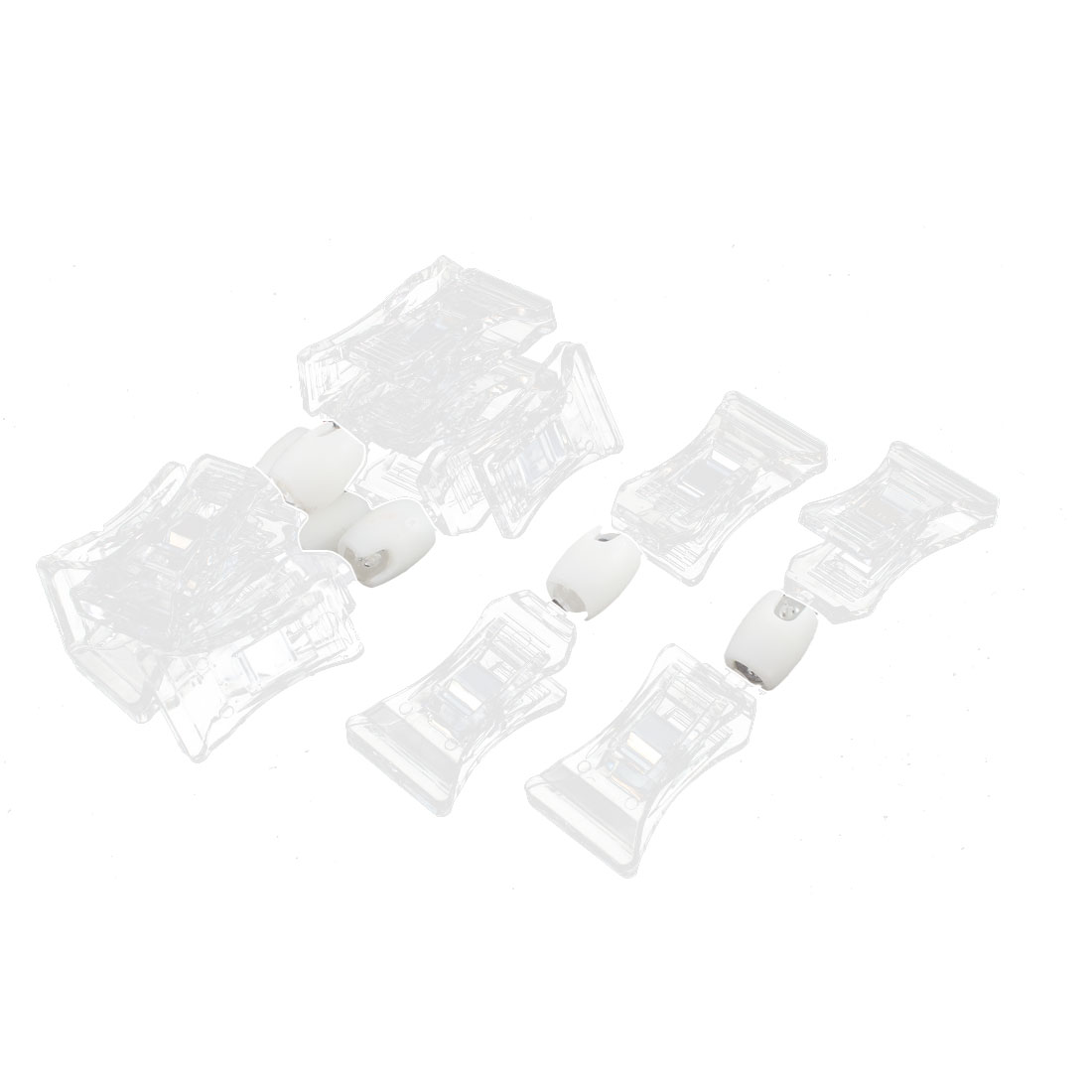 4Pcs Clear Double Plastic Clips Pop Sign Card Advertising Display Holder