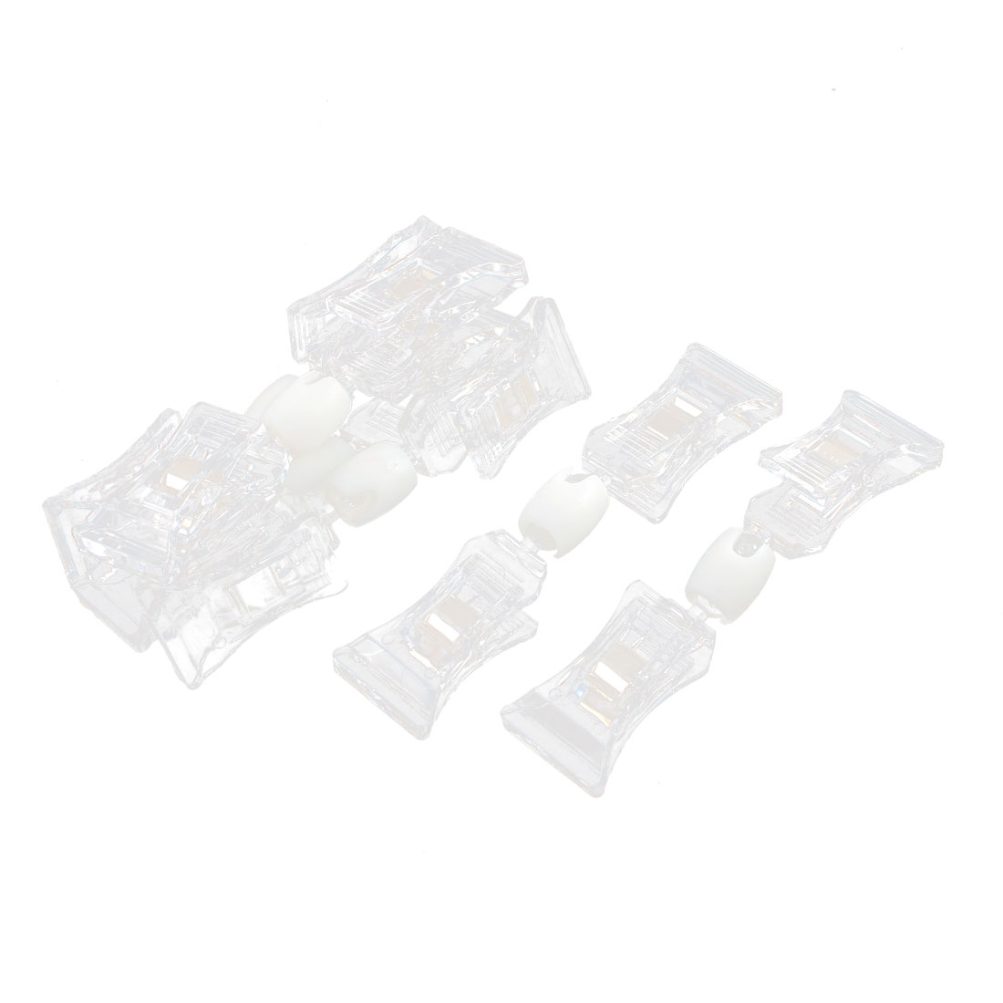 10Pcs Double Plastic Clips Pop Sign Card Display Holder Racks