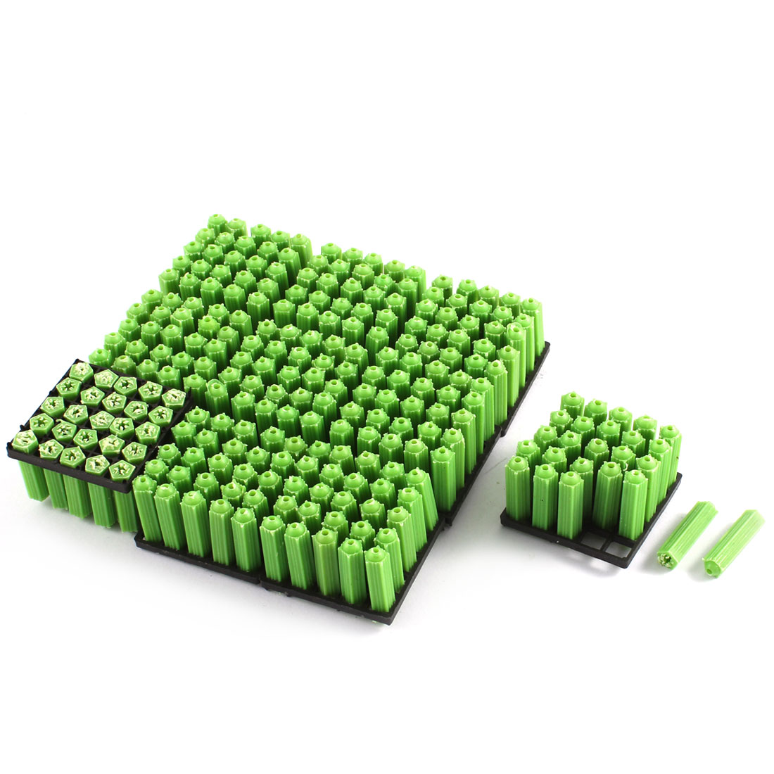 7x26mm Plastic Screws Fixing Wall Anchor Green 250Pcs