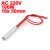 10mm x 50mm AC 220V 100W Electric Heating Element Cartridge Heater
