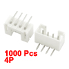 2mm Pitch 4P Bending Light Angle Terminal Pluggable Block Connector 1000pcs