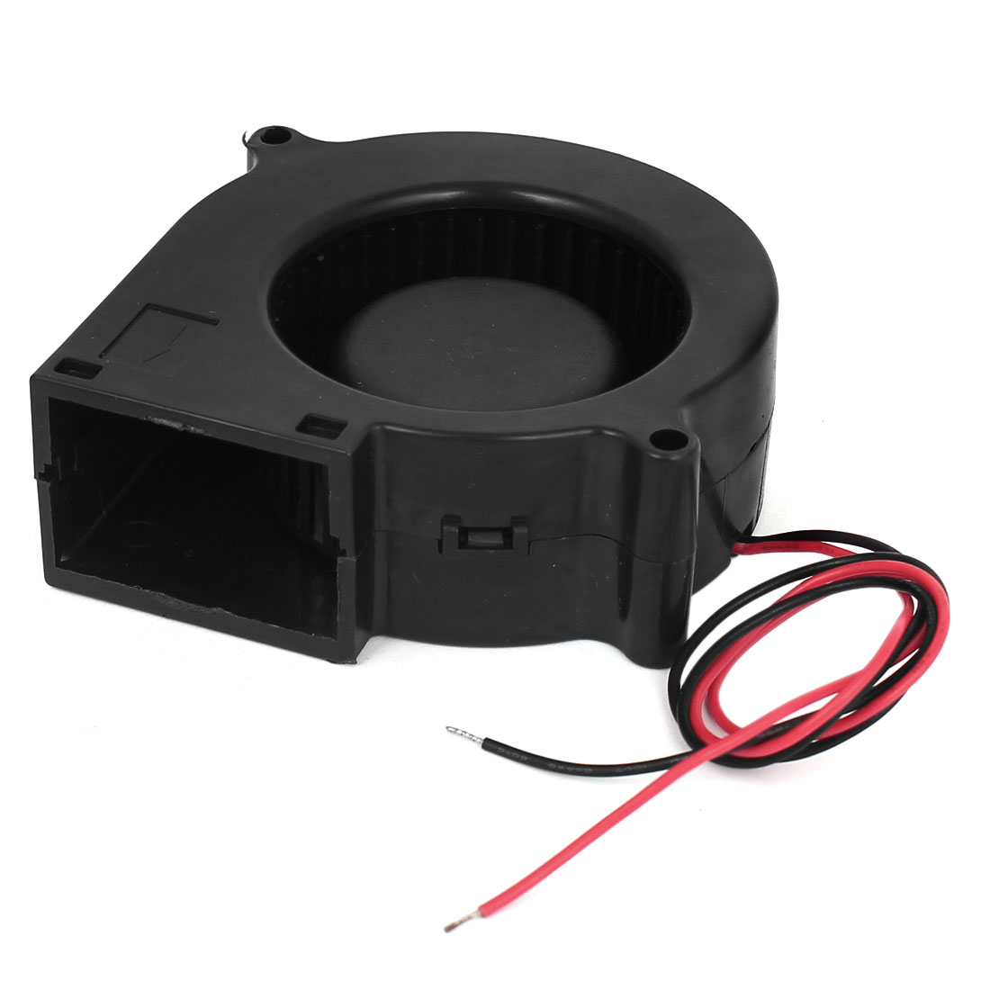 DC 12V 0.45A 2-Wired Black Plastic Frame Sleeve Bearing Blower Cooling Fan