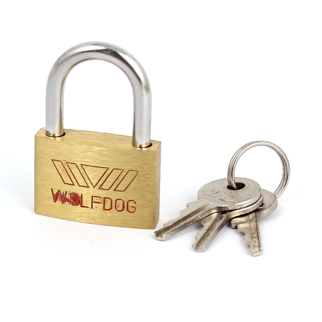 Brass Tone Metal Tiny Box Cabinet Showcase Safety Padlock Locks w keys