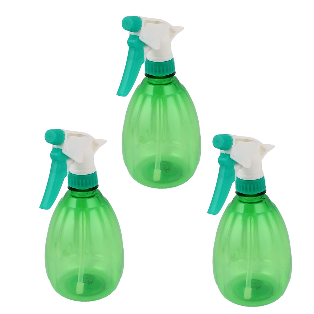 3pcs 500ml Nozzle Head Hand Trigger Water Sprayer Mist Spray Bottle Green