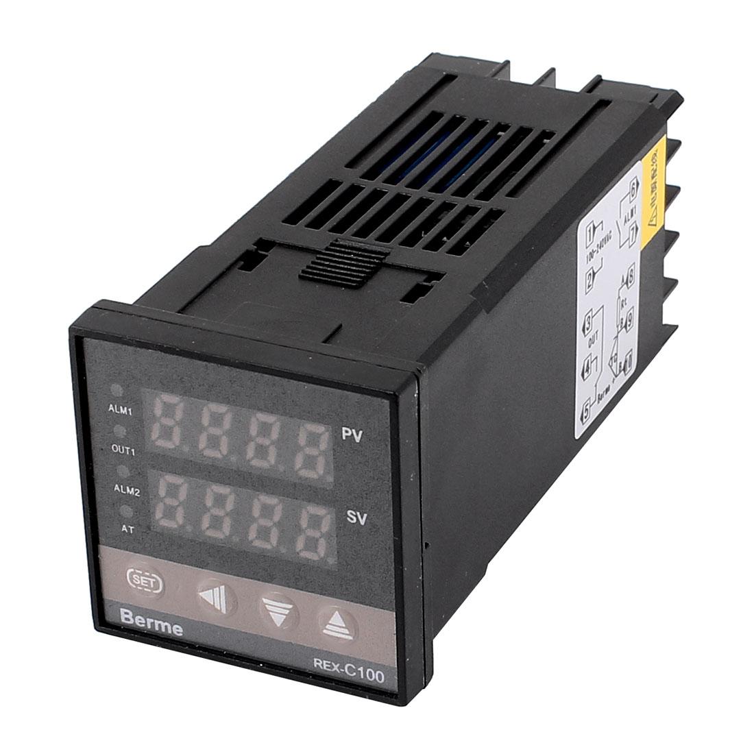 AC 100-240V PID Digital SSR Control Output Temperature Controller Sensor