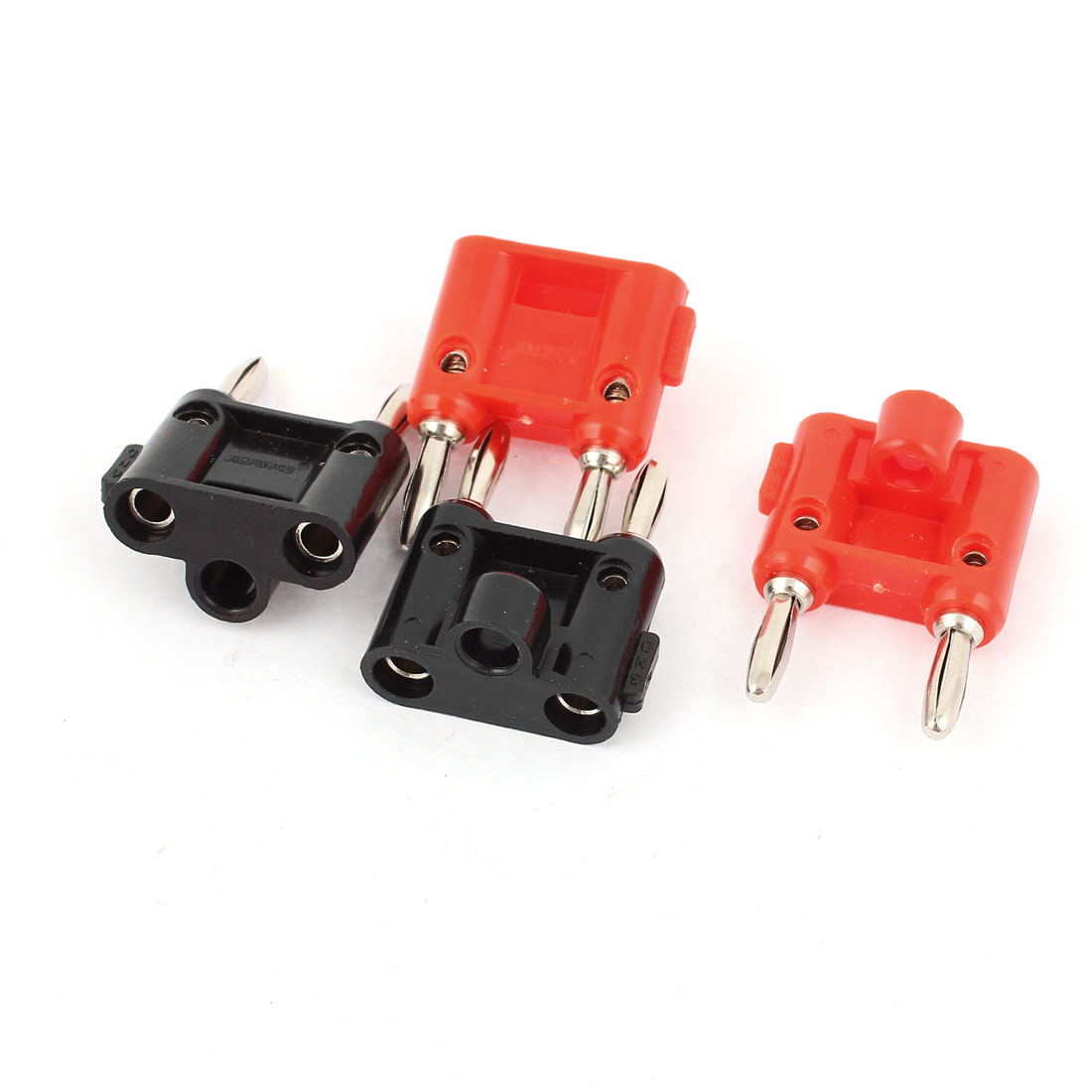 4pcs Speaker Audio Screw Type Dual Banana Binding Post Red Black