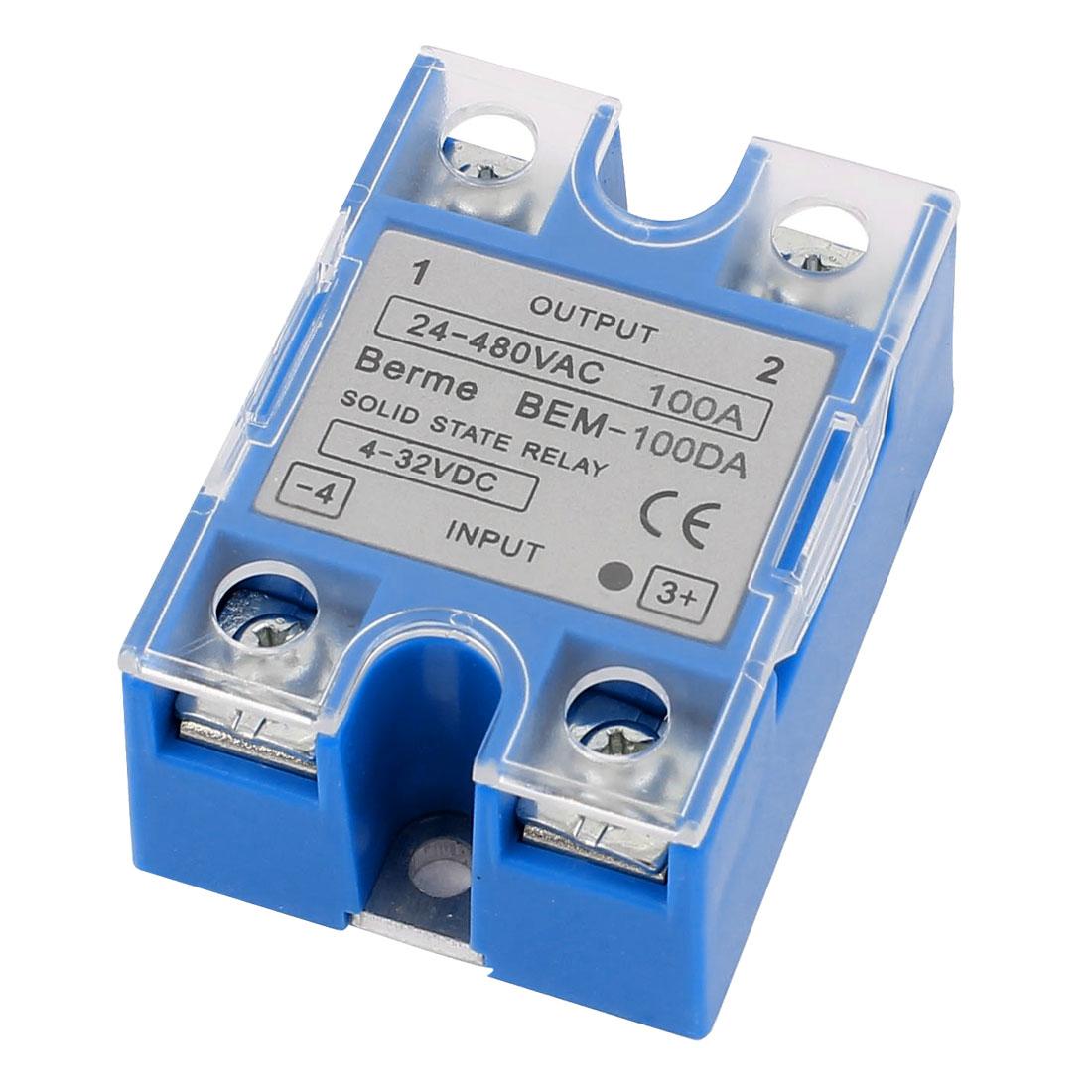 DC to AC 4-32V 24-480V BEM-100DA 100A Crydom Solid State Relay Blue