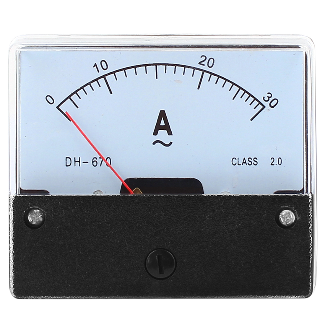 AC 0-30A Rectangle Panel Current Analog Ammeter Meter Gauge DH670