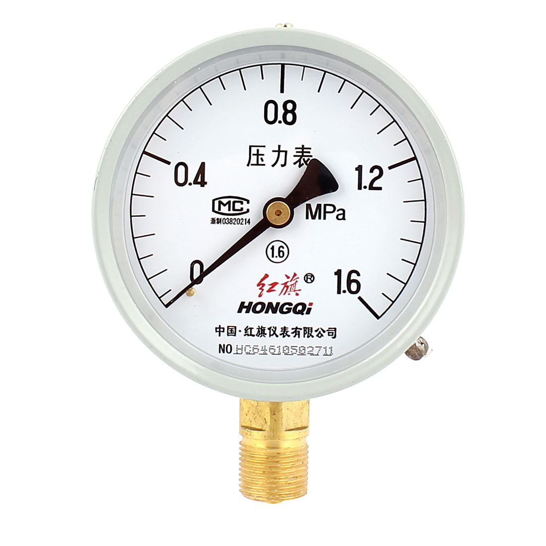 Air Compressor 1/2BSP Male Thread Dial Pressure Gauge 0-1.6Mpa