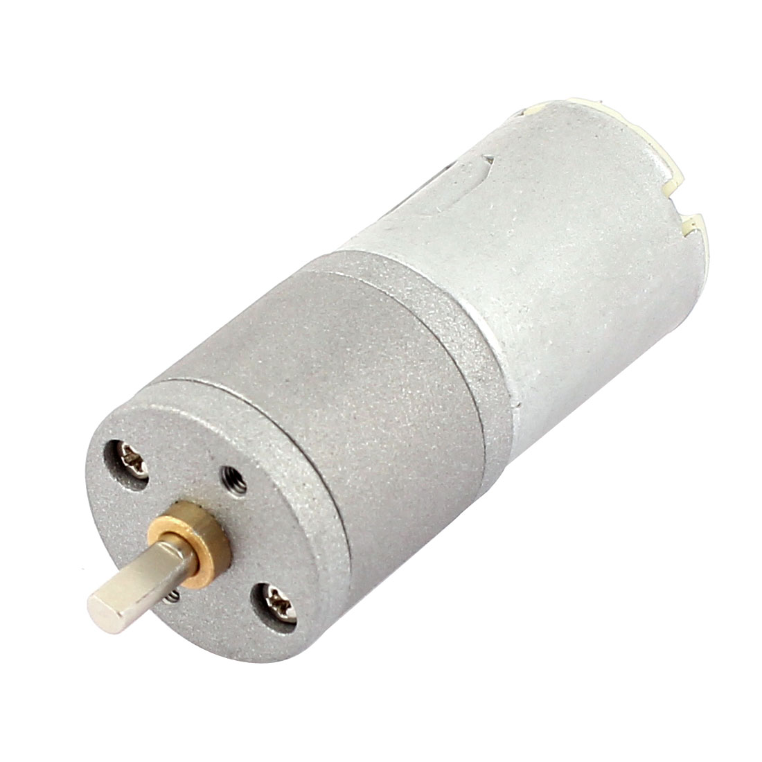 12V 30RPM 4mm Shaft Dia Soldering Pin Cylinder Magnetic Electric Reducer Gear Box DC Geared Motor