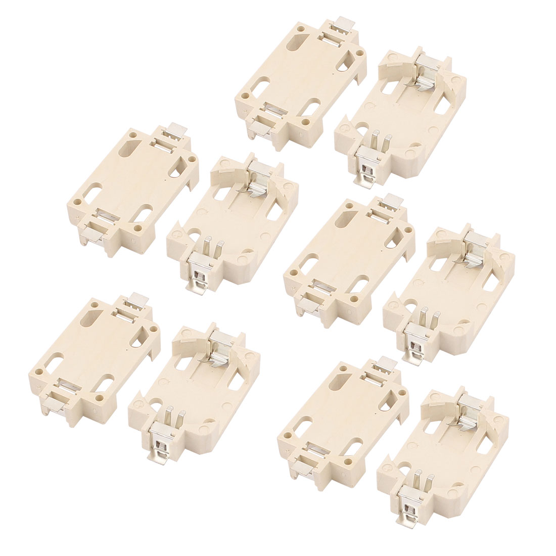 10Pcs PCB Surface Mouting Terminals CR2032 Button Cell Battery Holder
