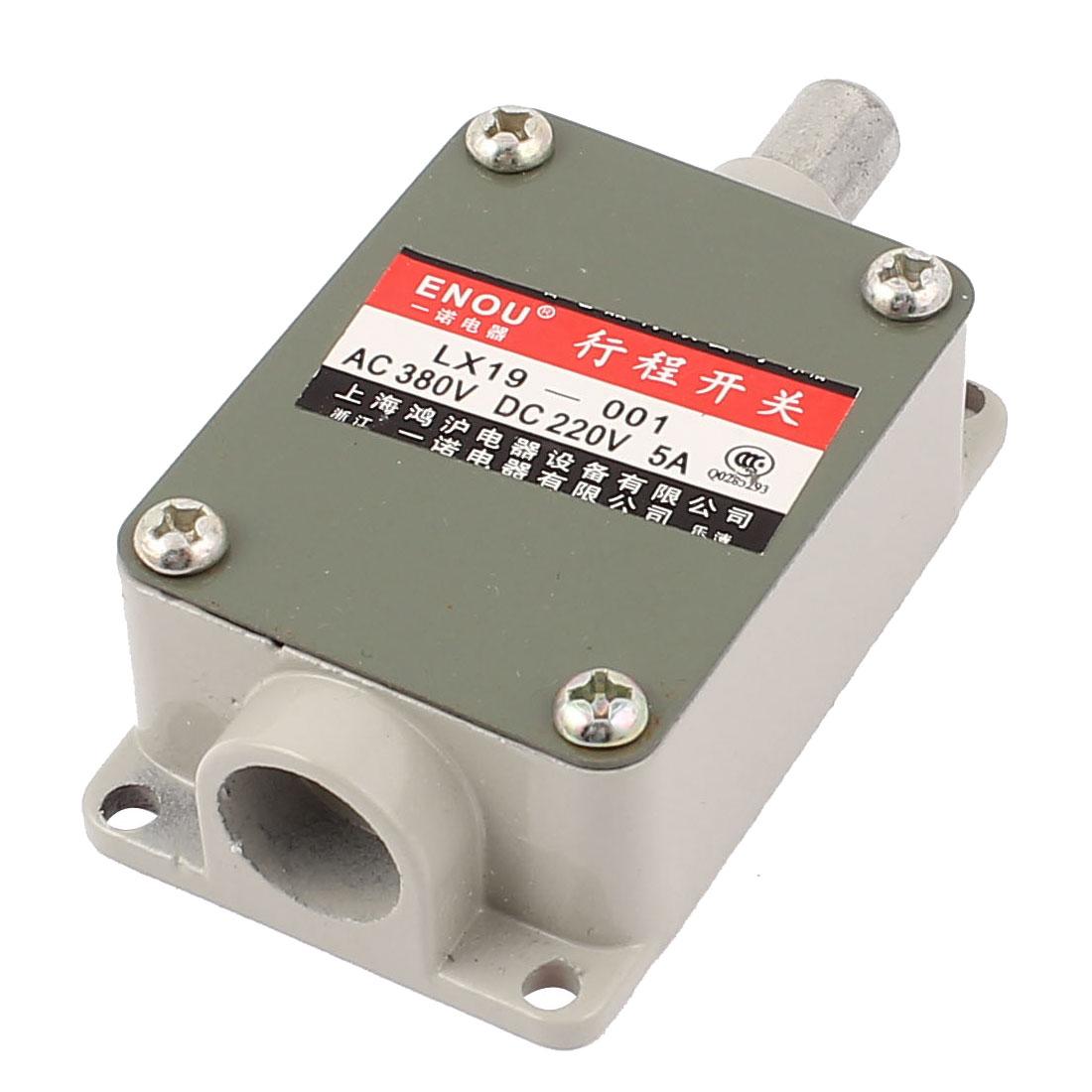 LX19-001 AC 380V DC220V 1NO 1NC SPDT Momentary Push Plunger Limit Switch