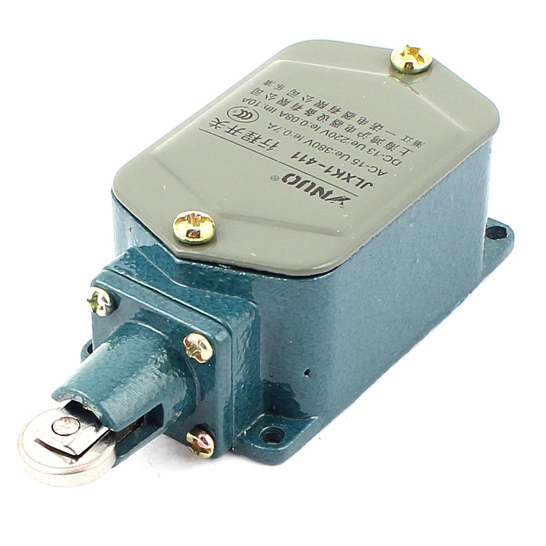 JLXK1-411 AC 380V DC 220V Push Type Parallel Roller Plunger SPDT Momentary Limit Switch