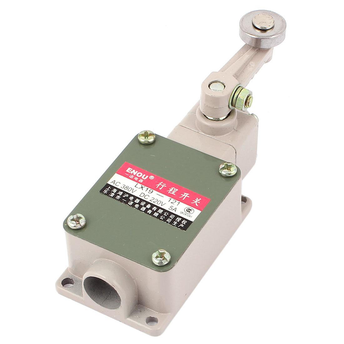 LX19-121 AC 380V DC 220V DPST 1NO 1NC Rotary Roller Lever Limit Switch
