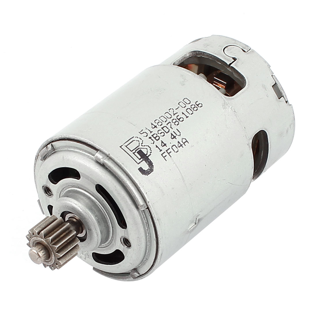14.4V 16500RPM 5mm Dia Shaft 14 Tooth Cylinder 2 Pin Terminals Gear Motor