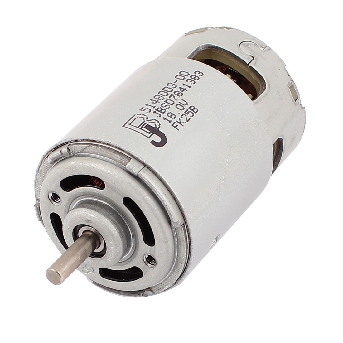 DC 18V 18000RPM 5mm Dia Shaft Cylinder 2 Pin Terminals Electric DC Motor