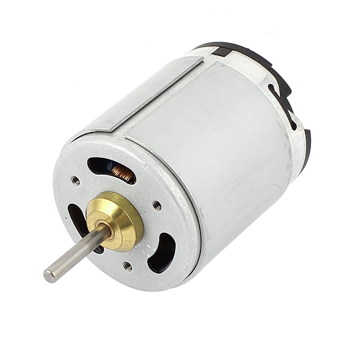 DC 24V 4700RPM 4mm Dia Shaft Cylinder 2 Pin Terminals Electric Magnetic DC Motor