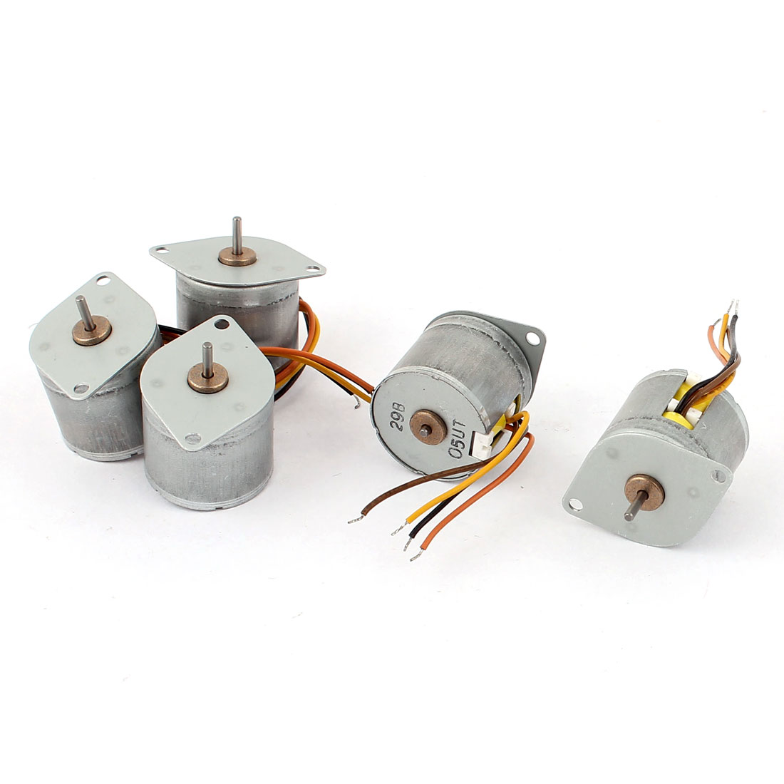 5Pcs DC 6V 20mm Diameter Round Shaped 2 Phase 4 Wire Stepping Motor