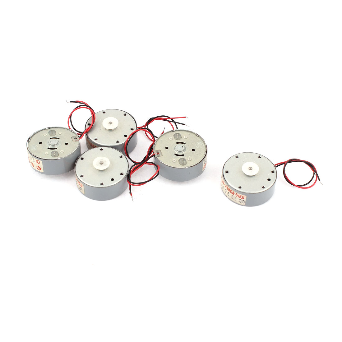 5Pcs DC 2V 3800RPM 1.5mm Dia Shaft DC Motor for Toys Walkman Repeater