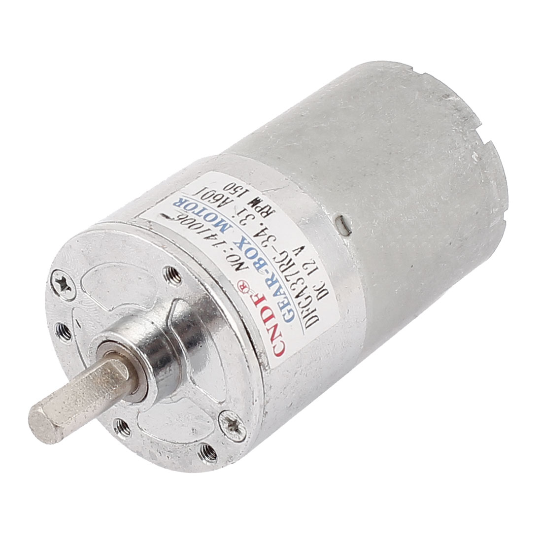 DC 12V 6mm Shaft 150RPM Speed Reducing Gear Box Electric Motor