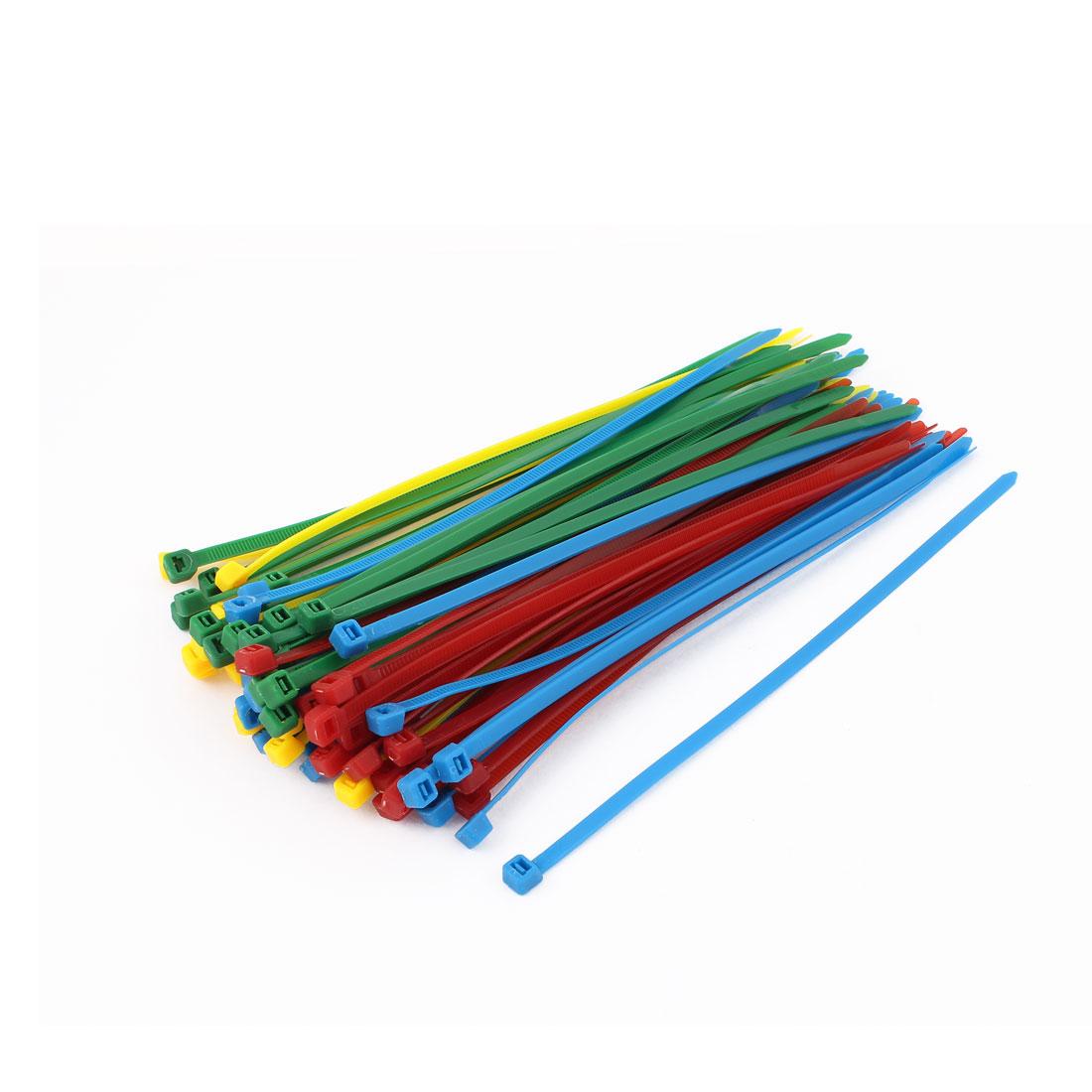 80Pcs Plastic Self-Locking Packaging Cable Ties Fastener