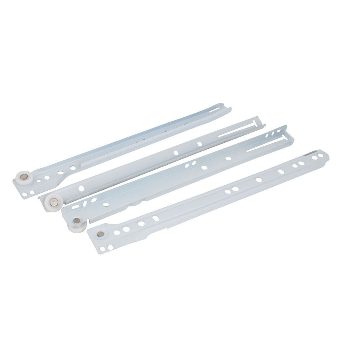 "2 Pairs 12"" Length White Side Mount Drawer Slides Runner Rail Track Hardware"