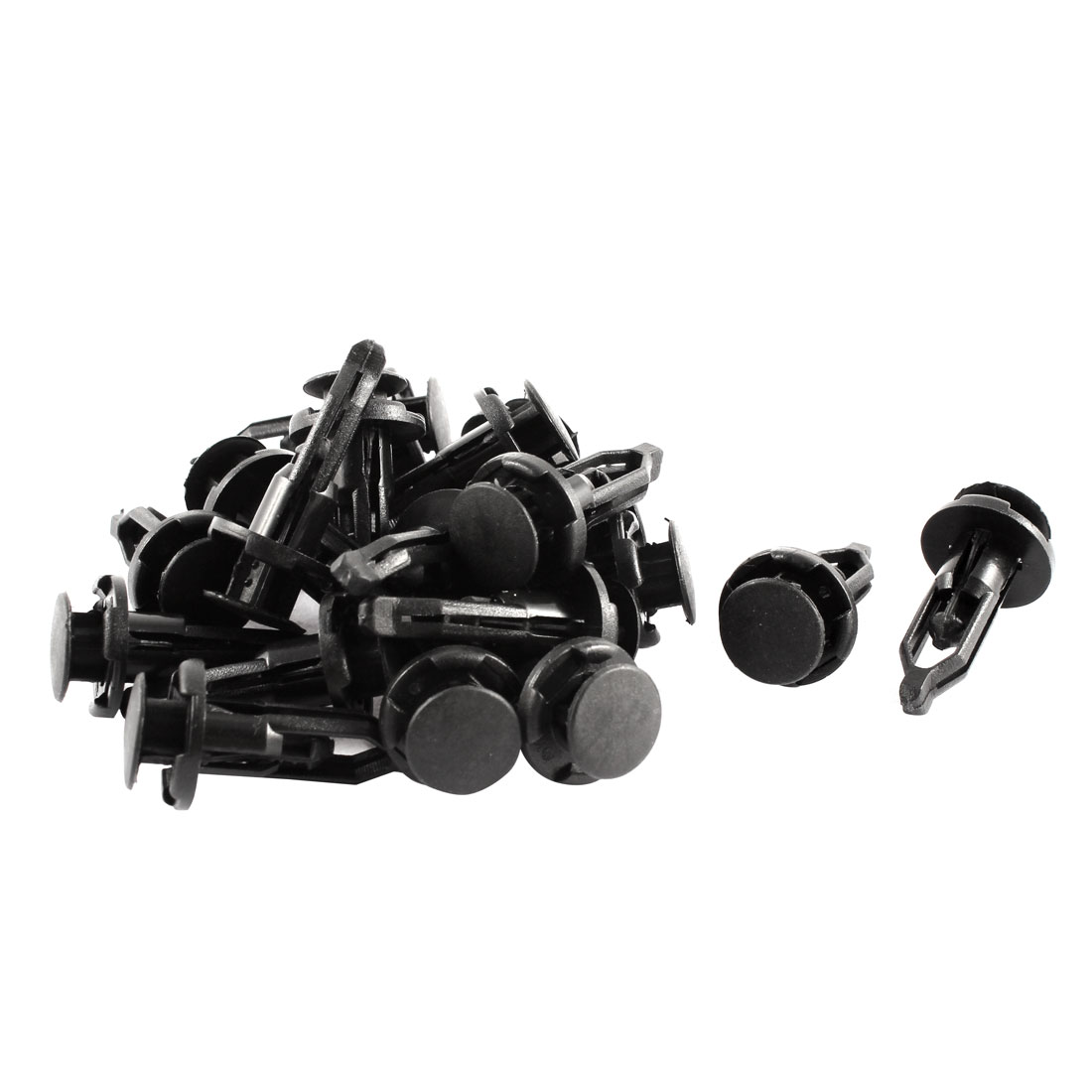 20 Pcs Black Plastic Rivets Fastener Clip 9mm x 17.5mm x 28mm for Car Bumper