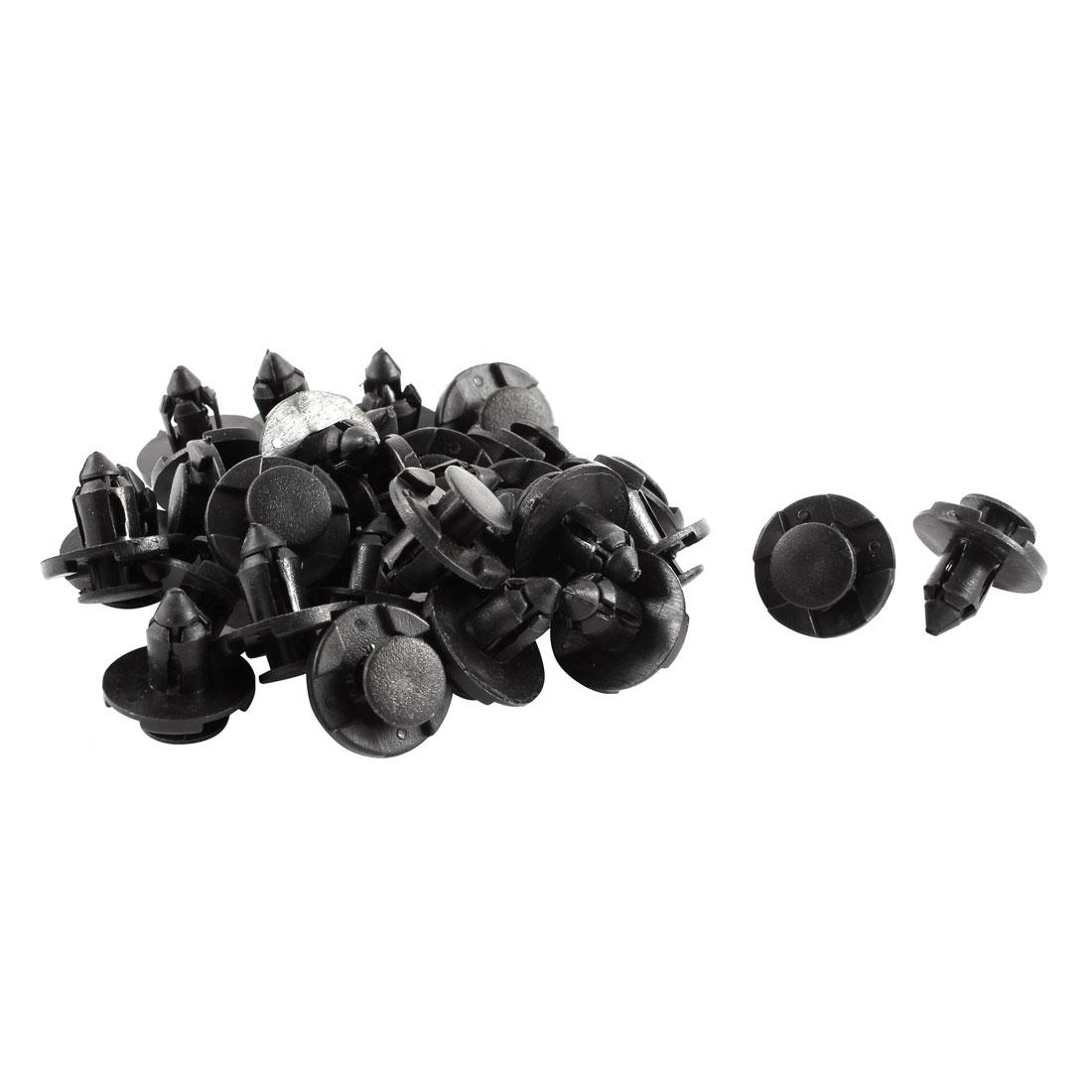 Car Door Fender Black Plastic Rivets Retainer Clips 30 Pcs