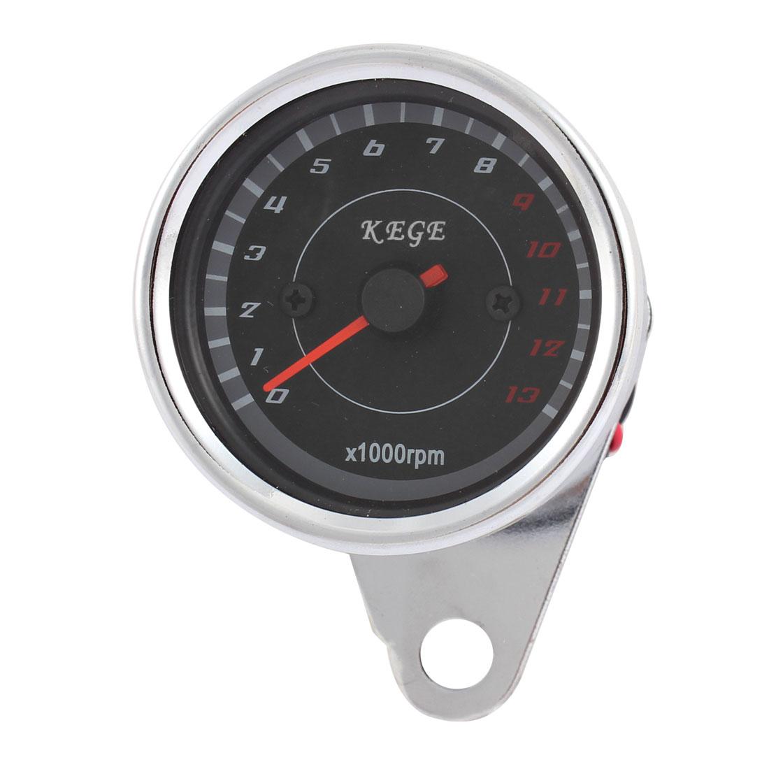 Motorbike Universal Waterproof Tachometer Speedometer Tacho Gauge 0-13000RPM