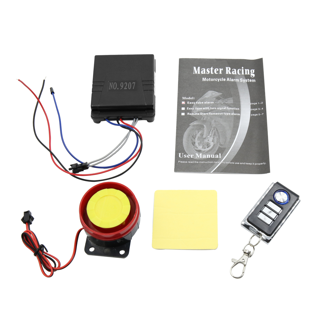 Waterproof Motorcycle Anti-theft Security Alarm System Set w Remote Engine Start
