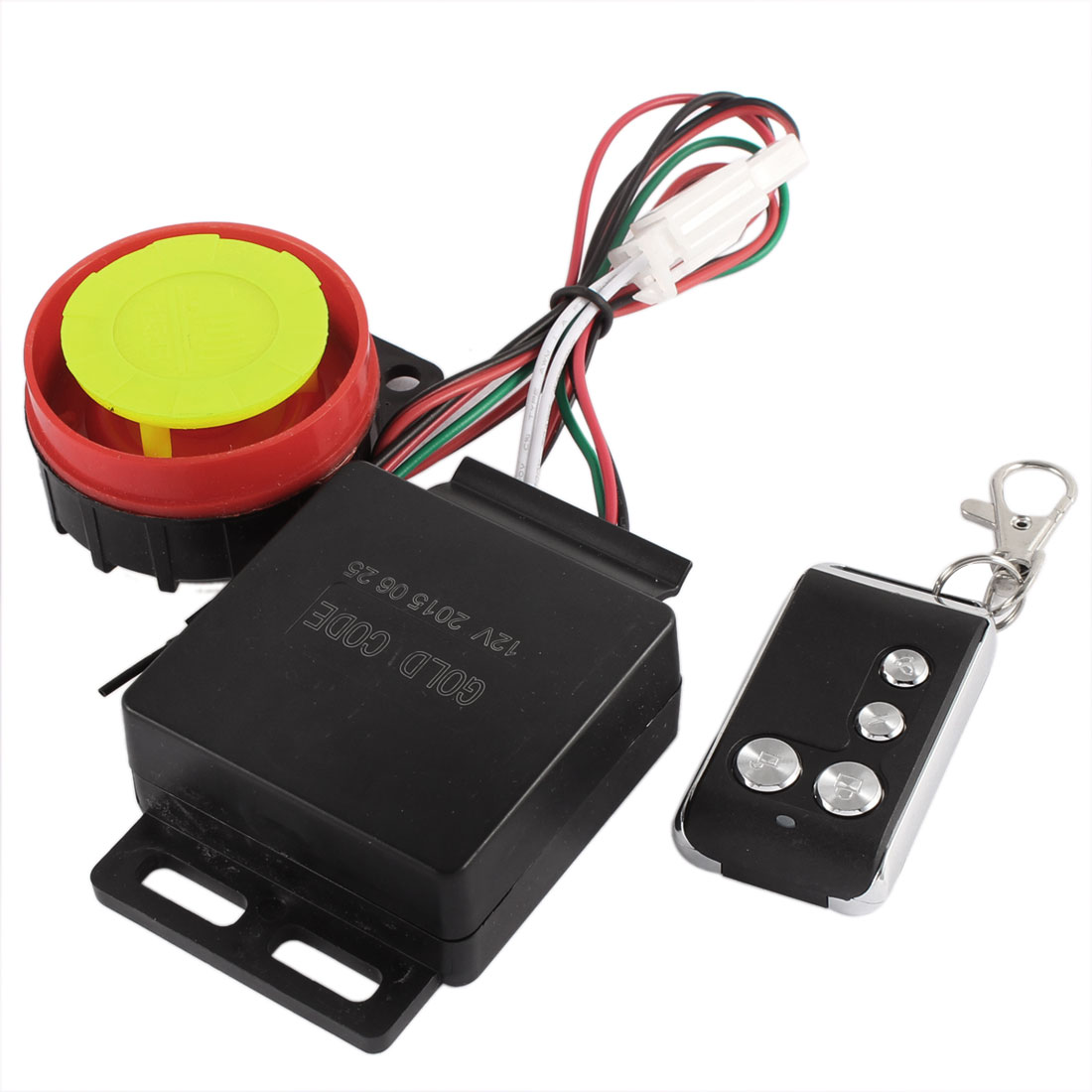 DC 12V Motorcycle Anti-theft Security Alarm System Set w Remote Controller