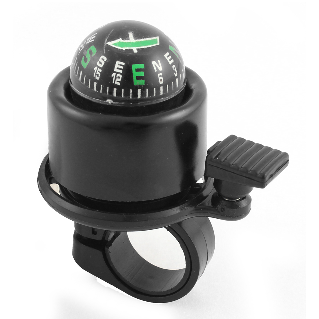 Bicycle Cycling 21mm Diameter Handlebar Compass Design Ring Bell Alarm Black