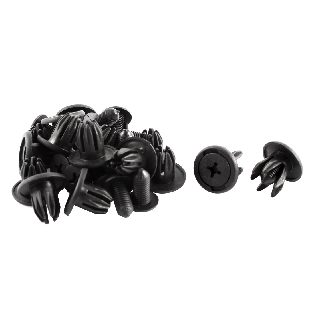 15 Pcs Black Plastic Rivet Car Door Trim Panel Retainer Clip 10mm Hole for Chery