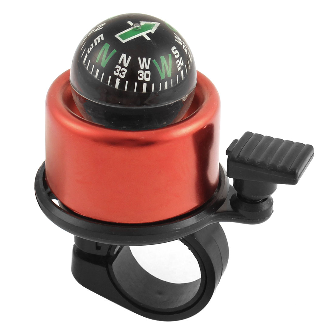 Bicycle Cycling 21mm Handlebar Compass Style Ring Bell Alarm Red Black