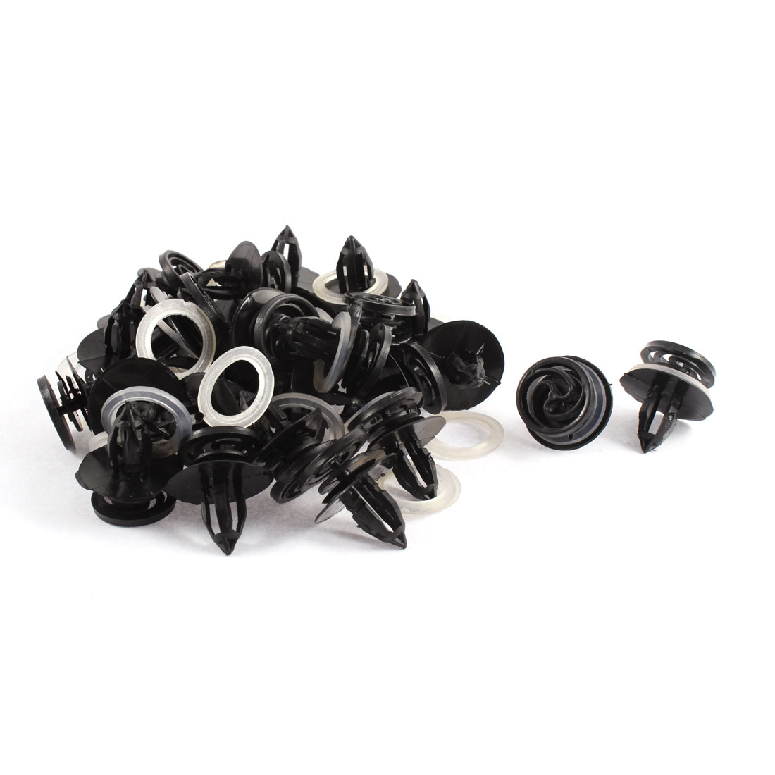 30 Pcs 11mm Hole Plastic Car Door Bumper Fixing Rivets Fastener Clip for Audi