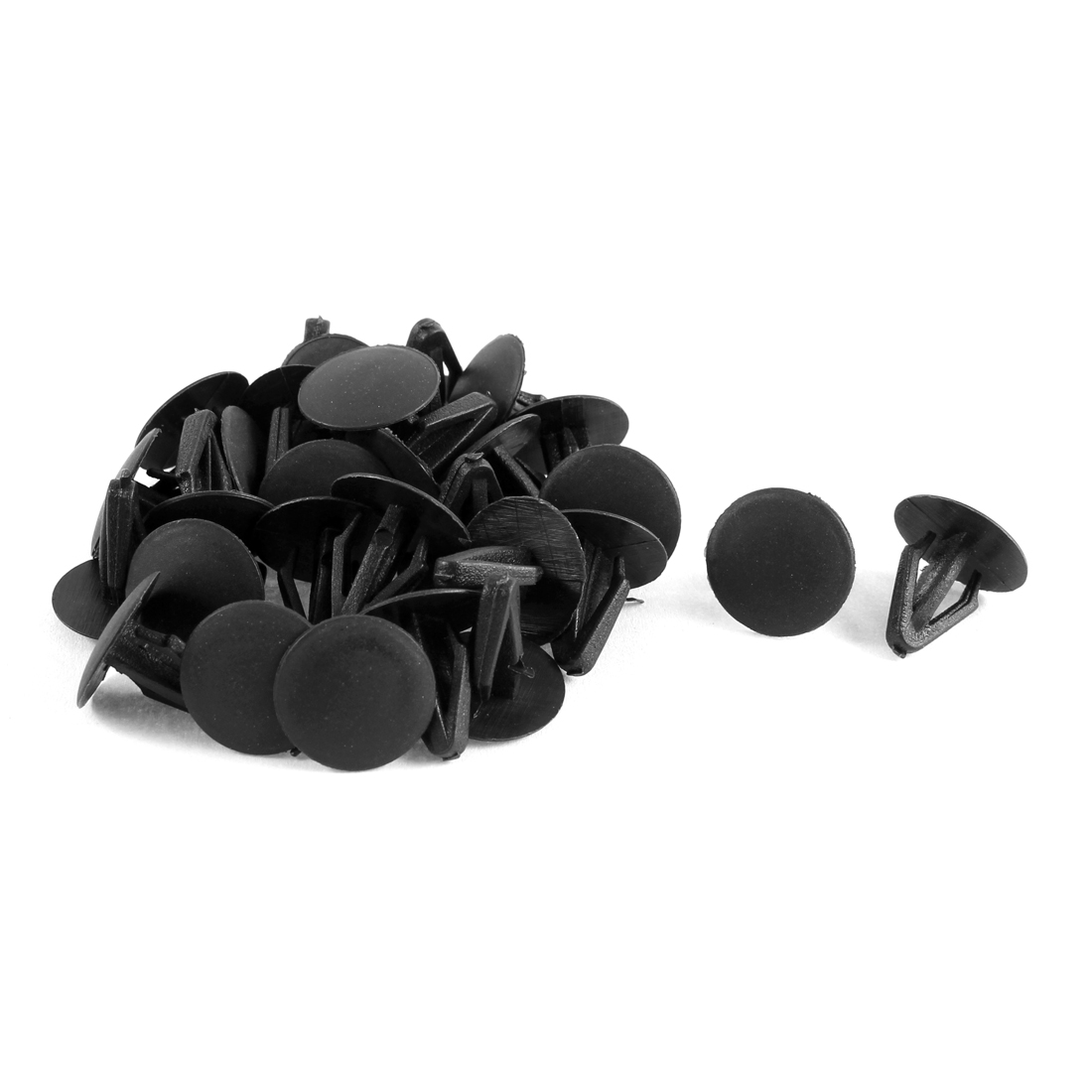 30 Pcs Black Plastic Rivets Fastener 9mm Fit Hole for Car Bumper Fender