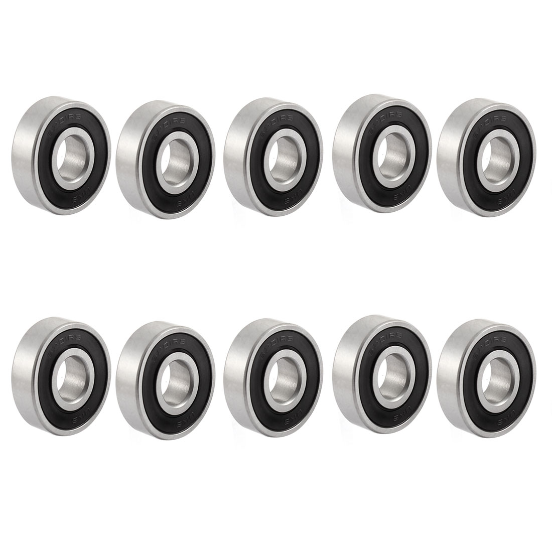 6201-2RS 12mm Inner Dia 32mm OD Shielded Ball Bearing for Electric Motor 10 Pcs
